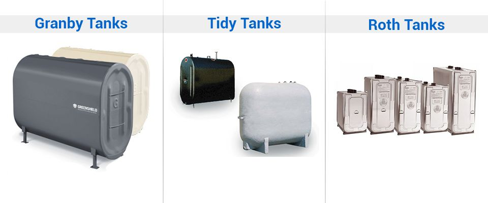 Different types of tanks